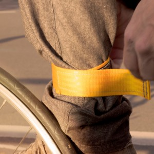 Yellow trouser strap by .flxble