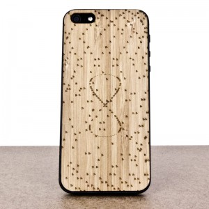 Wooden iPhone 5/5s skin made of bamboo. Mathematics edition.