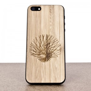 Wooden iPhone 5 skin made of bamboo. Mathematics edition.
