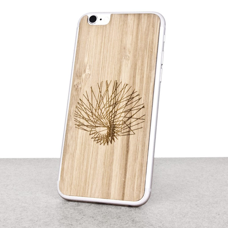Wooden iPhone 6 skin made of bamboo. Mathematics edition.