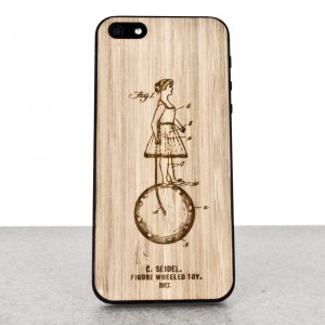 Wooden iPhone 5/5s skin made of bamboo. Inventions edition.