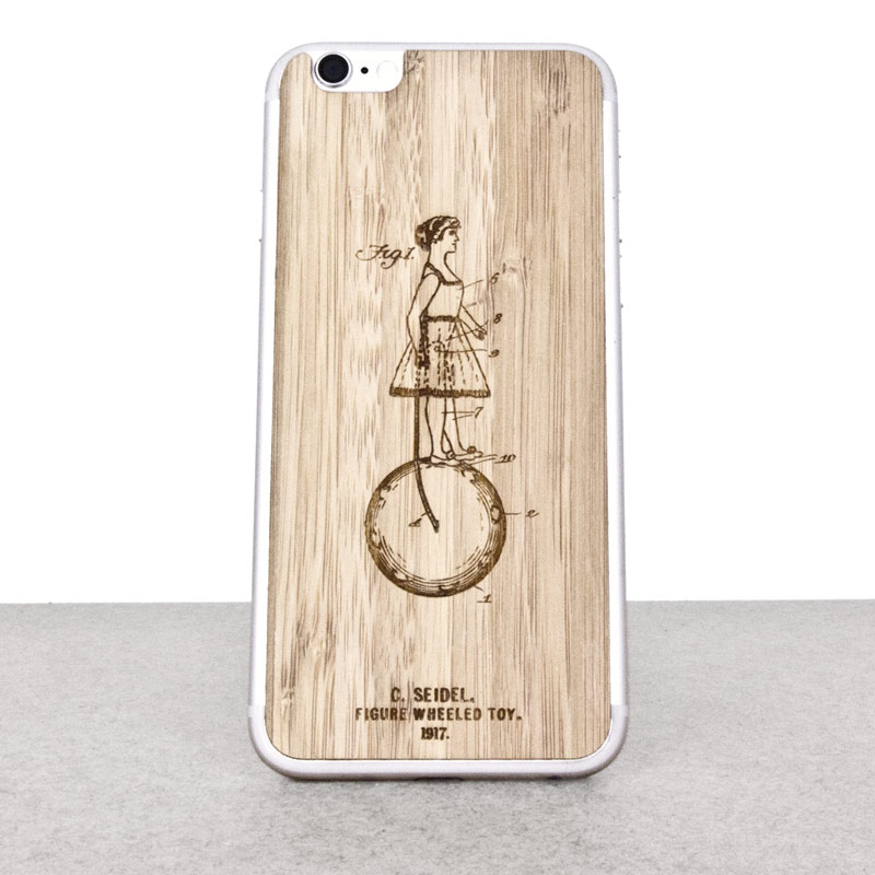 Wooden iPhone 6 skin made of bamboo. Inventions edition.