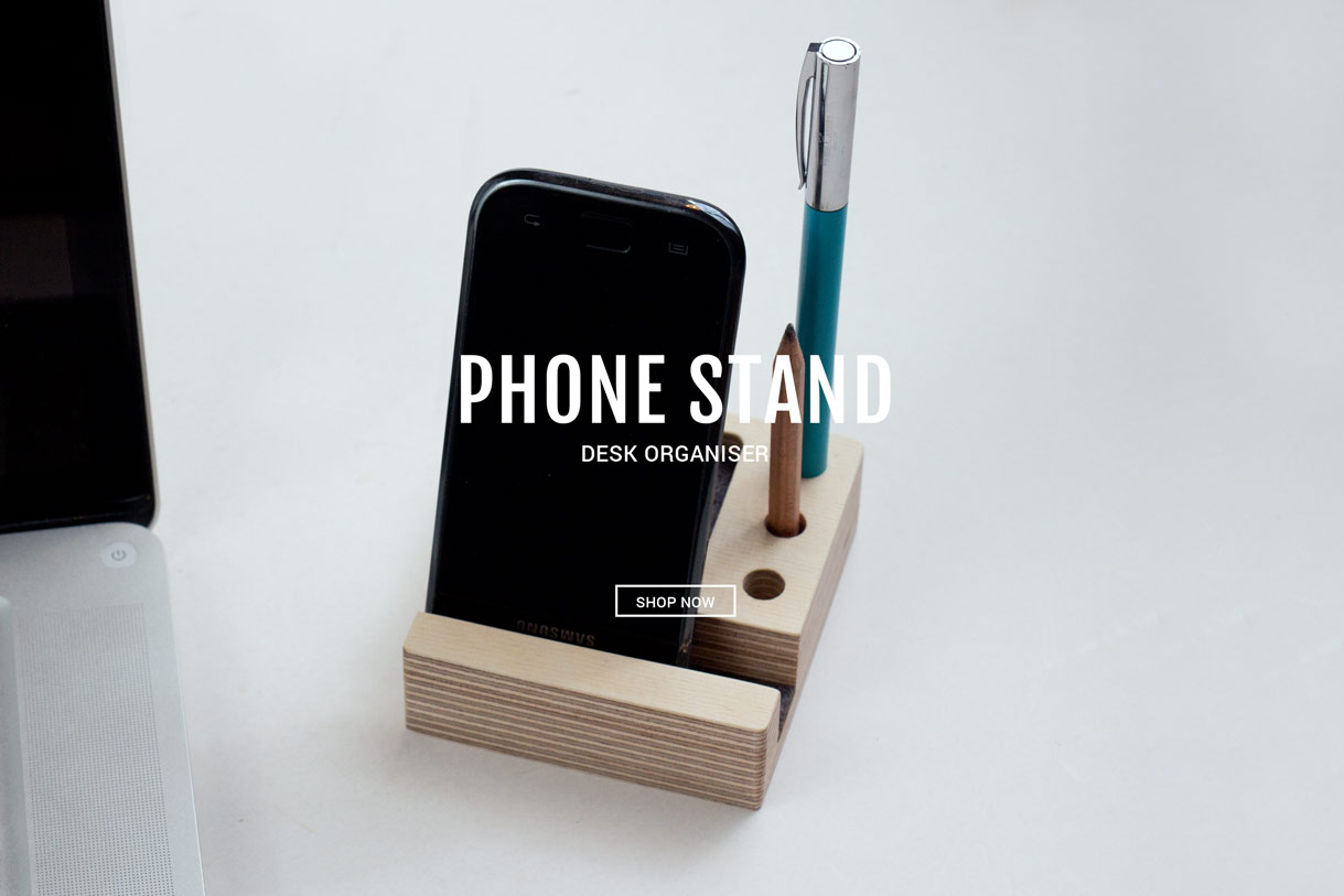 Wooden-phone-stand-design
