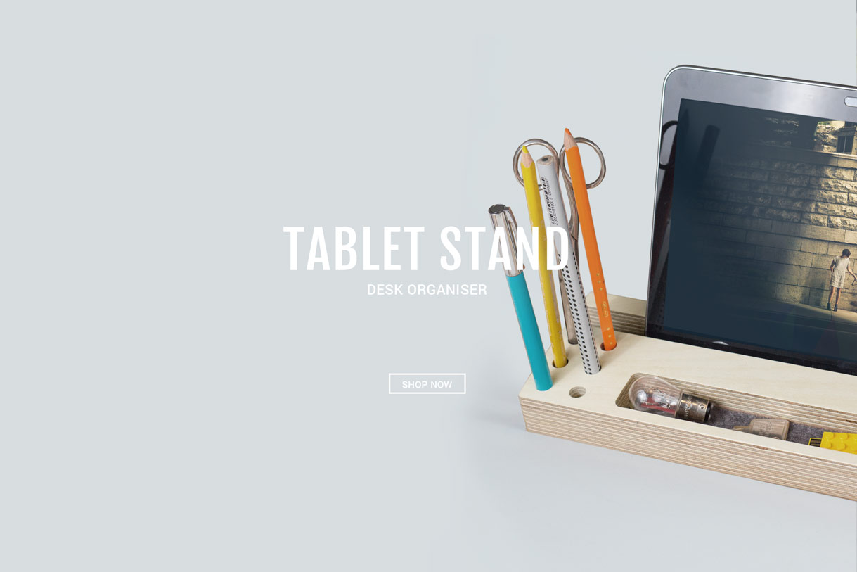 Wooden-tablet-stand-design
